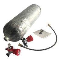 Acecare 2018 9L DOT стандарт hp 4500psi углеродного волокна сжатого воздуха бак pcp air цилиндра с клапаном и заполнить станции