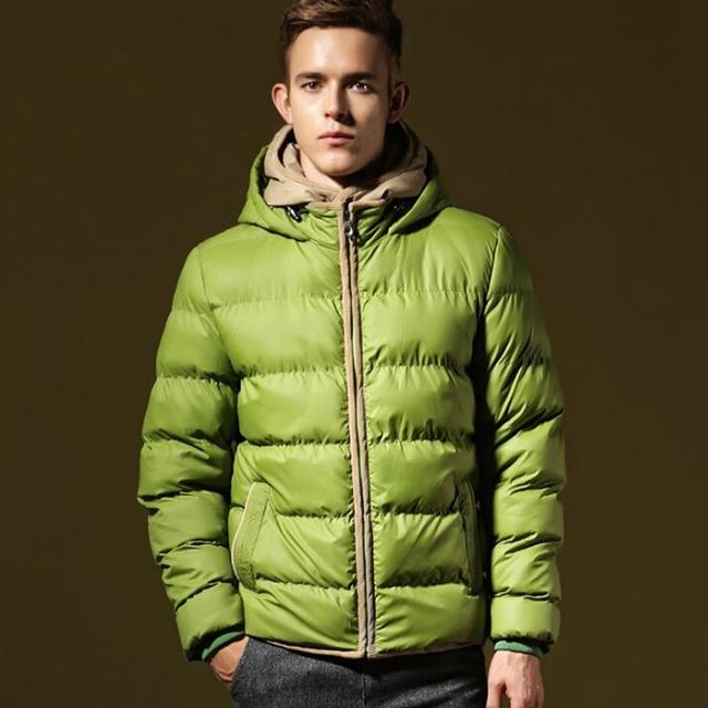Nova marca de Inverno Quente dos homens Espessamento Jaqueta Quente Jaqueta de Algodão Com Capuz Homens Algodão
