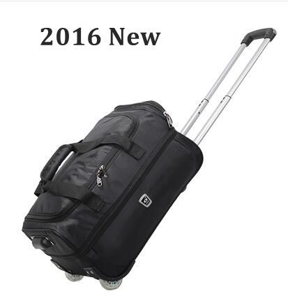 "2016 marca Travel Trolley Bolsa de equipaje de Cabina Equipaje de Mano 20 ""40L 22"" pulgadas 50L Rodando Bolsa De Lona Impermeable Oxford Maleta Con Ruedas"