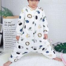 Детский спальный мешок, сумка-коляска для новорожденных, с животным узором, детская кровать, для игр, с раздельными ножками, зимние, анти типи, спальные мешки, теплые