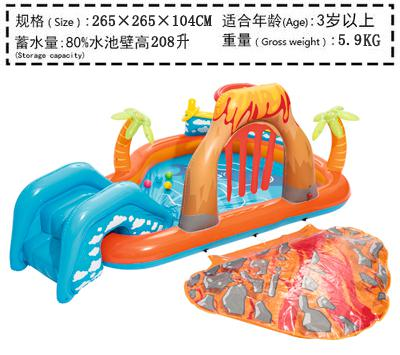 US $75 45 8% OFF|Large Inflatable Pool Toy Big Swimming Pool For Kids Game  Home Pvc Water Slide Child Outdoor Summer Pool Slide Fun Bouncer House-in