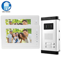 Home Security 7 ''Farbe Video-türsprechanlage Sprechanlage mit Außenkamera mit Zwei Tasten für Multi Wohnung Freies verschiffen