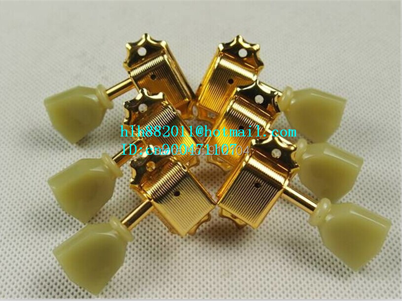 free shipping new electric guitar jade tuning peg guitar jade button in gold made in Korea for the both side of the guitar  8227 free shipping new electric guitar jade tuning peg in gold guitar button wj44 n22