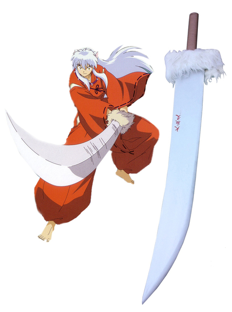Us 139 0 Free Shipping Inuyasha Tetsusaiga Sword Cosplay Wooden Weapons In Costume Props From Novelty Special Use On Aliexpress Com Alibaba
