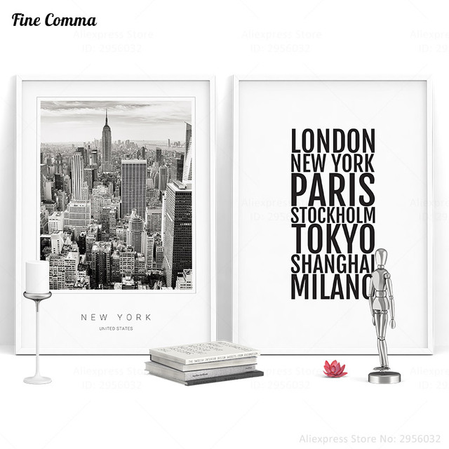 Scandinavian Decor New York Cities Poster Nordic Art Posters And Prints Wall Picture For Living