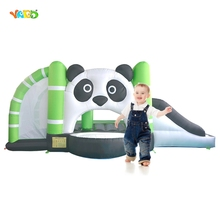 YARD Inflatable Bouncer Super Combo Lovely Panda Big Slide with Basket Hoop Kids Juming House for Outdoor Backyard Party Events
