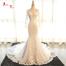 Jark Tozr Long Sleeve Mermaid Wedding Dresses