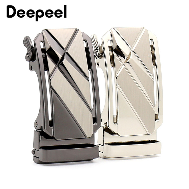 Deepeel 1pc/5pcs 36mm High-end Luxury Men Belt Buckle Metal Automatic Buckle Belt Head For 35-34mm DIY Leather Craft Jeans Decor
