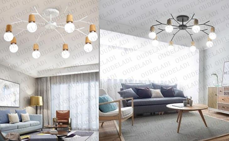madeira moderna led casa sala estar decoração luminárias