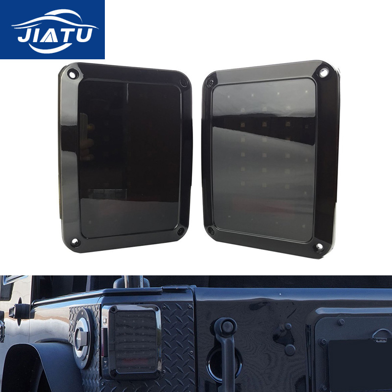 2x Smoked LED Tail Lights for 1997-2017 Jeep Wrangler JK TJ Tail Light Brake Reverse Light Rear Back Up Turn Singal Lamp Daytime for jeep wrangler jk 2
