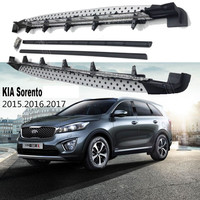 For KIA Sorento 2015.2016.2017 Car Running Boards Auto Side Step Bar Pedals High Quality New Circular Particle Design Nerf Bars