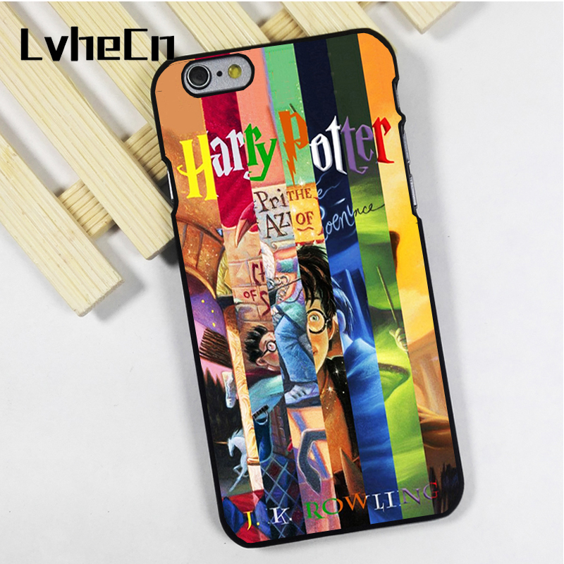 LvheCn phone case cover fit for iPhone 4 4s 5 5s 5c SE 6 6s 7 8 plus X ipod touch 4 5 6 back skins All Books Harry Potter