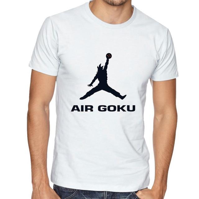 2017 Super Saiyan Design Men's T shirt Dragon Ball Air Goku Z Vegeta Printed Tees Funny Anime Tops