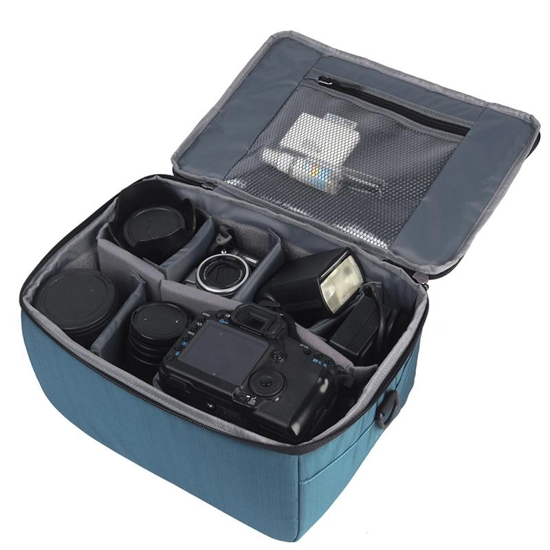 Brand New DSLR SLR Camera Insert Bag Partition Storage Bag for Nikon padded bag case protection for Canon DLSR camera ...