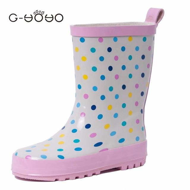 G-YOYO Резиновые Ботинки Дождя Детей, Девушки Дети Дождь Сапоги, Мальчики Ребенок Дождь Сапоги, Обувь Малыша, Botas Де Lluvia Infantiles