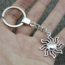 New Vintage Men Jewelry Keychain Diy Metal Holder Chain Sun 35x31mm Antique Silver Pendant Gift