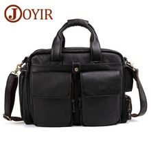 цена JOYIR 100% Genuine Leather Men's Briefcases for Male Business Handbags Causal 15