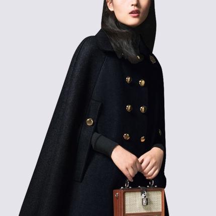 2019 Double Casaco Black Laine coat Feminino Wear Trench De Nouvelle Femelle Lady D'hiver Pardessus Femmes Manteau Mode Breasted L358 Work IS0xaH