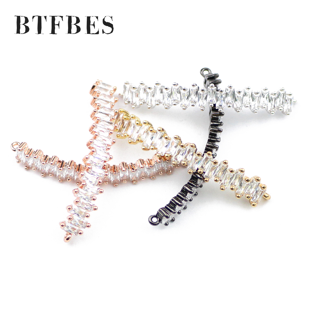BTFBES 1pcs white zircon fashion woman hair long curved gold accessory metal copper bead girl hairpin earrings making DIY Holder