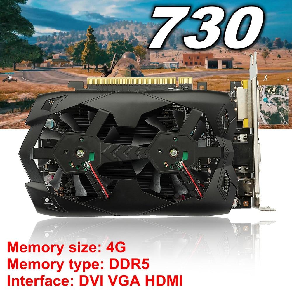 GT730 4GB GDDR5 128bit VGA DVI HDMI Graphics Card w/ Fan For NVIDIA GeForce 4pin mgt8012yr w20 graphics card fan vga cooler for xfx gts250 gs 250x ydf5 gts260 video card cooling