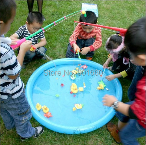 Buy hook a duck party game includes for Fishing rod game