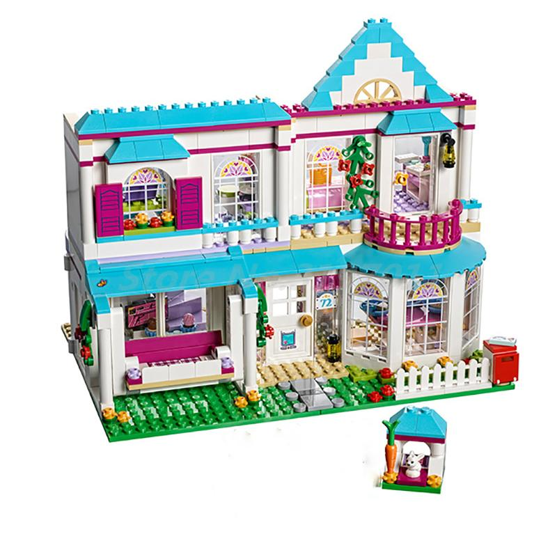 Lepin 01014 Stephanie House Compatible With Friends For Girl Hotel Model 41314 Building Blocks Birthday Gift Toys For Children stephanie diamond prezi for dummies