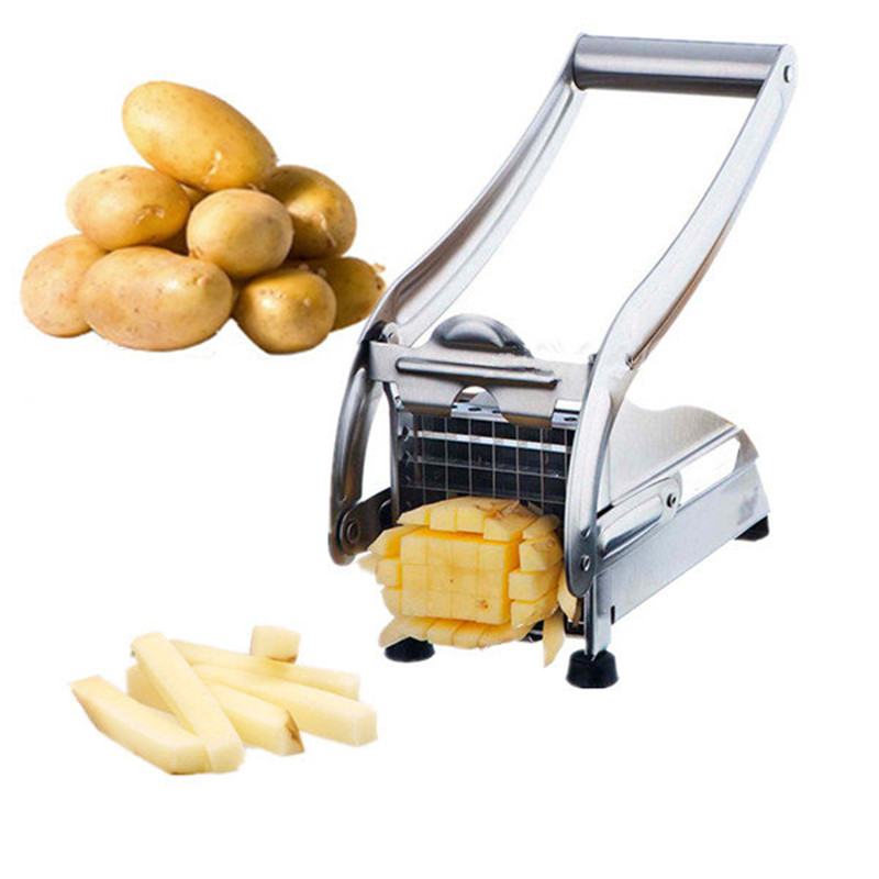 Stainless Steel French Fry Chopper Chips Making Tool Kitchen Craft Vegetable Potato Chipper  Cutter