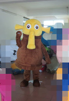 Factory Direct Long Nose Brown Plush Elephant Funny Man Fancy Dress Mascot Costume Adult Character Cosplay