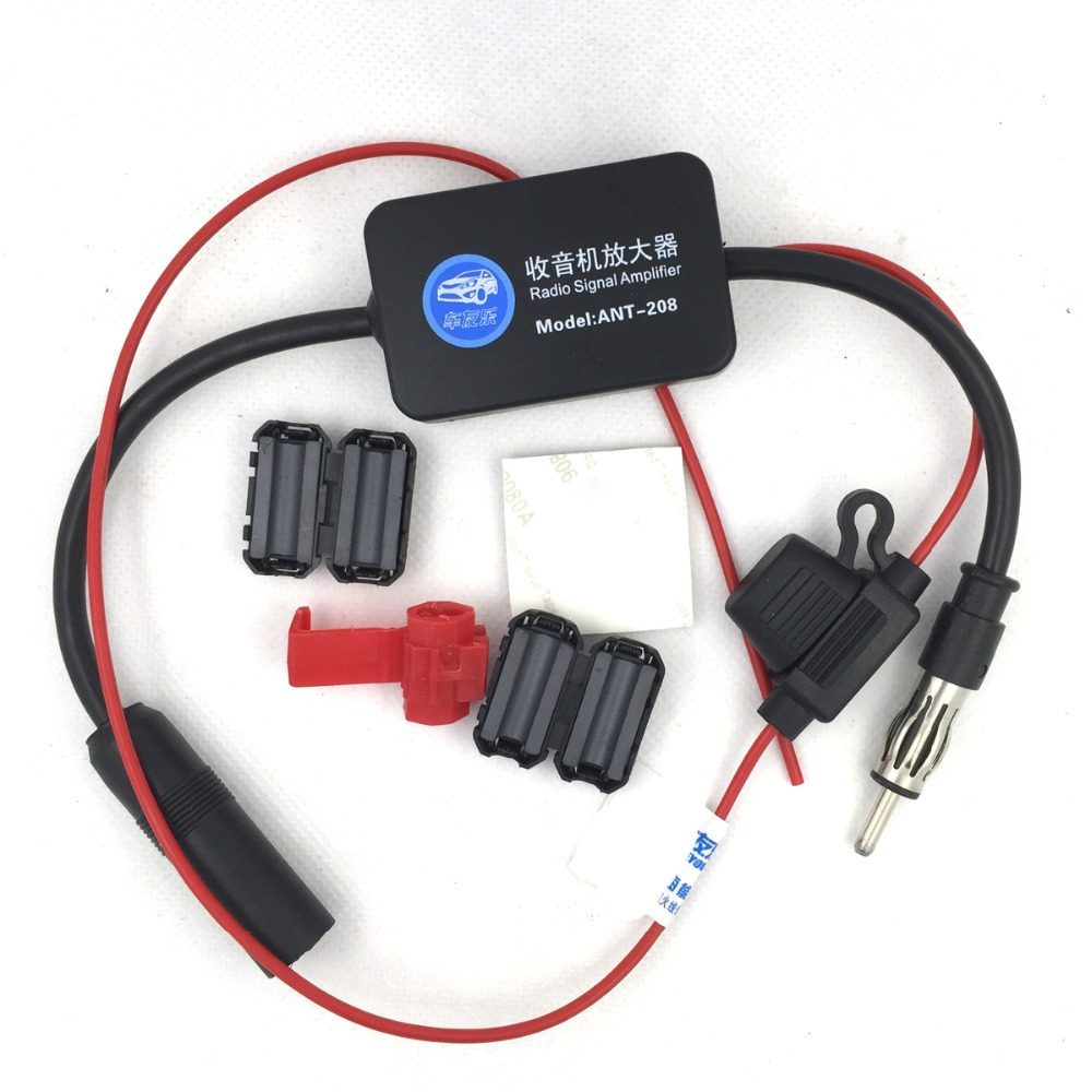 Antena de coche Radio Fm antena amplificador Booster Radio envío libre