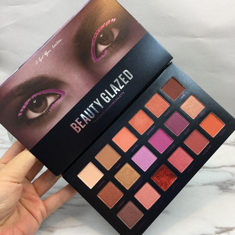Beauty Glazed Make up 18 Colors Eyeshadow Palette Matte Diamond Glitter Hudas Makeup Eye Shadow in One Palette Eyeshadow Pallete