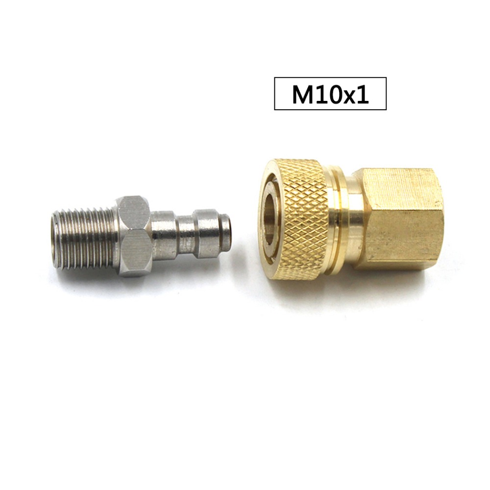 PCP Airforce Paintball Stainless Steel 8MM M10x1 Female Quick Disconnect Male Plug Coupler Connector Set Air Refill Fitting