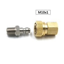 PCP Airforce Paintball Stainless Steel 8MM M10x1 Female Quick Disconnect Male Plug Coupler Connector Set Air Refill Fitting(China)