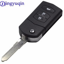 jingyuqin 3 Buttons Folding Flip Keyless Entry Remote Key Fob Case For MAZDA 2 3 5 6 RX8 MX5 New Wings Rui Uncut Blade