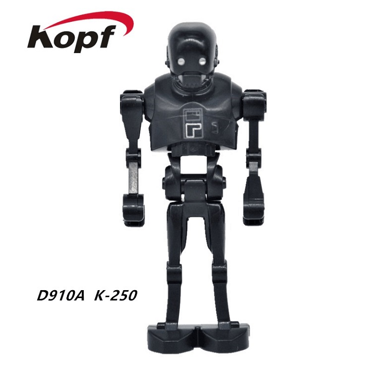 Single Sale Star Wars Rogue One Robot K-2SO Super Heroes Bricks Assemble Building Blocks Best Children Birthday Gift Toys D910A 1pc imperial death trooper rogue one 75156 diy figures star wars superheroes assemble building blocks kids diy toys xmas