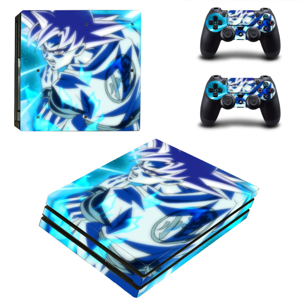 Blue Wukong For PS4 Pro Skin Sticker For Sony Playstation 4 Pro Console and 2Pcs Controller Skins free shipping