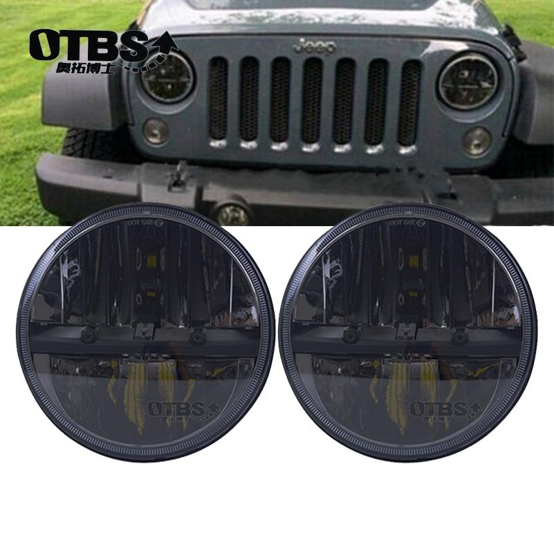 OTBS 1 paire 7 pouces 36 W phare LED pour Jeep Wrangler JK CJ TJ LJ Hummer H1 H2 projecteur LED lampes de conduite-blanc Hi/Lo faisceau