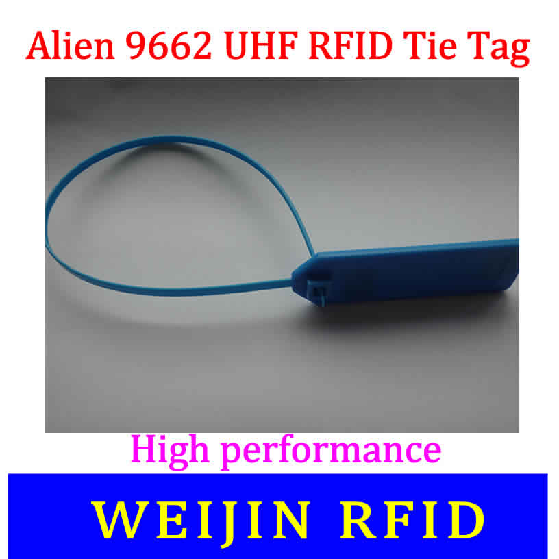 Alien authoried 9662 860-960MHZ UHF RFID tape lable Alien Higgs3 915M EPC C1G2 ISO18000-6C 73.5*21.2mm antenna long distance 1000pcs long range rfid plastic seal tag alien h3 used for waste bin management and gas jar management