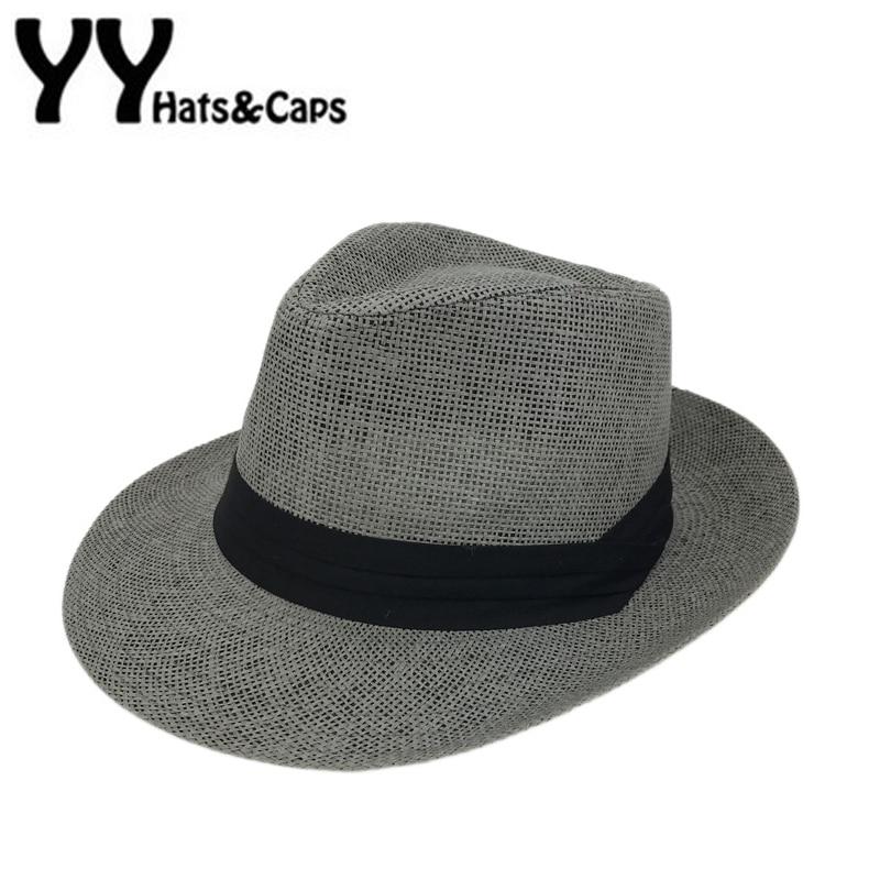 New Panama Hats Man Woman Summer Beach Hat  Sombrero De Panama Black White Fashion Caps Chapeu De Praia Verao YY0084