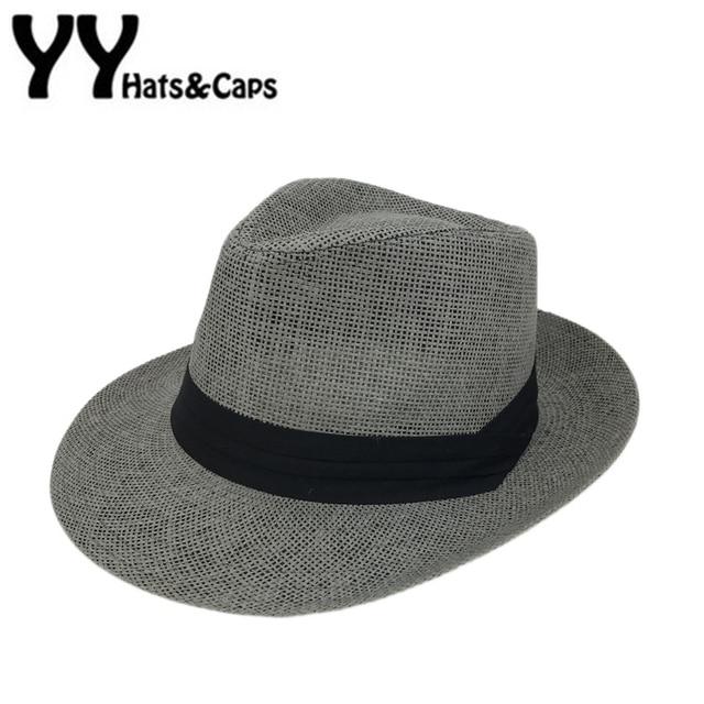 Novo Chapéu Sombrero de Panamá Panamá Chapéus Homem Mulher Praia Verão  Black White Moda Caps chapeu df99aaf0099