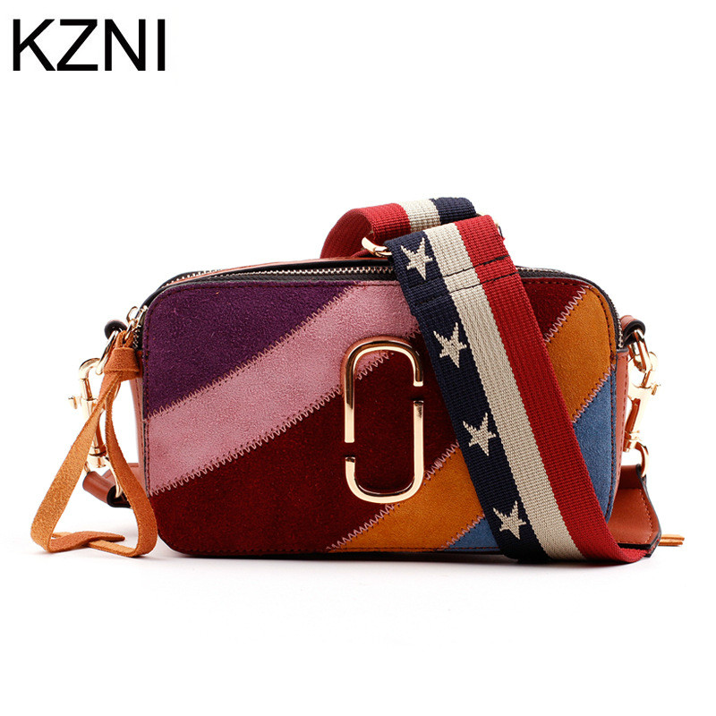 KZNI messenger bag men leather crossbody chain bag genuine leather bags women bolsas femininas bolsas de marcas famosas L032906