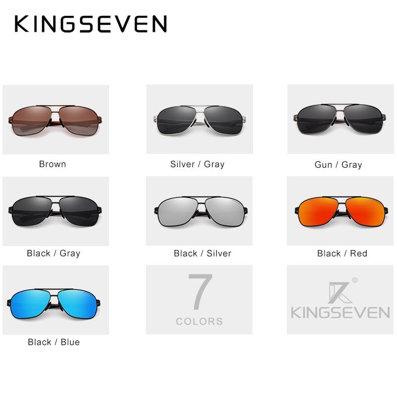 KINGSEVEN Women Men Sunglasses Polarized Mirror Lens Vintage Eyewear Driving Sun glasses Aluminum Temple Gafas de sol Masculino 3