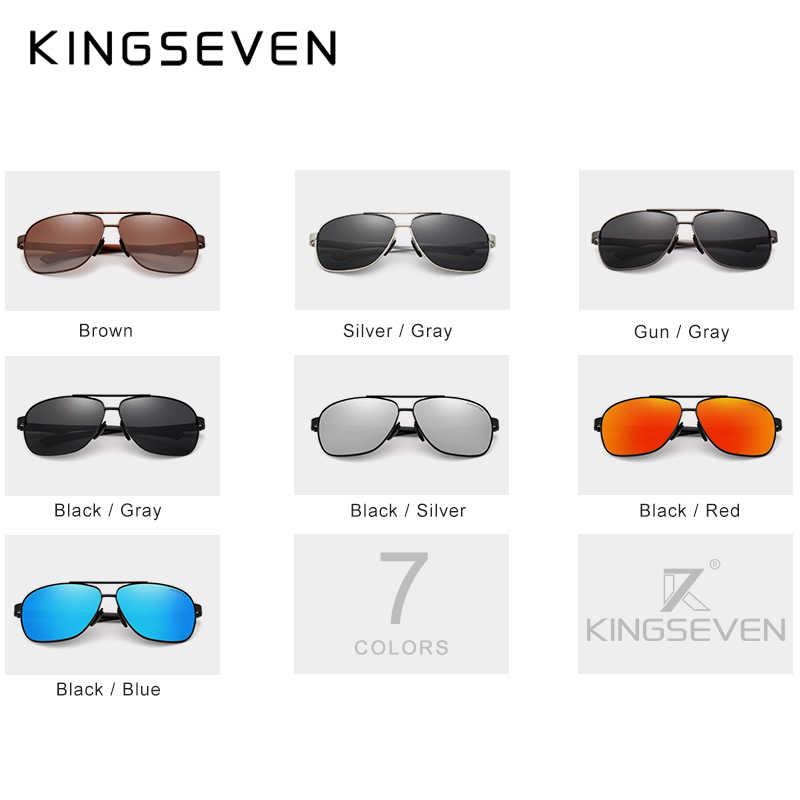 KINGSEVEN Óculos Condução Óculos de Sol Dos Homens Das Mulheres Óculos De Sol Polarizados Da Lente do Espelho Do Vintage óculos Templo De Alumínio óculos de sol Óculos de sol Masculino