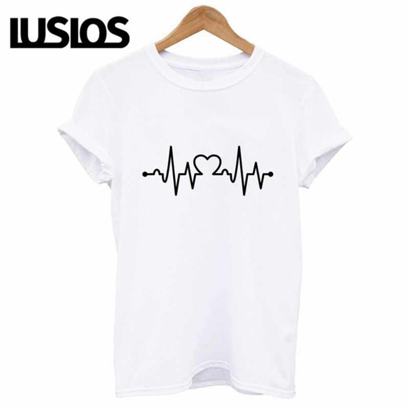 Luslos offre spéciale nouveau Style de rue femmes décontracté à manches courtes col rond coton t-shirt léopard à talons hauts imprimé graphique t-shirts femme