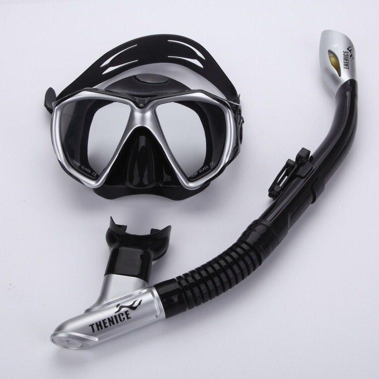 Nouveau masque de natation professionnel anti-buée pour adultes lunettes de plongée ensemble Silicone plongée sous-marine combinaisons de plongée masques