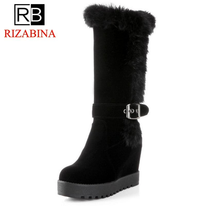 RIZABINA Free shipping over knee wedge boots women snow fashion winter warm footwear shoes boot P15339 EUR size 34-39 free shipping high heel wedge shoes women sexy dress footwear fashion pumps p10767 eur size 34 43