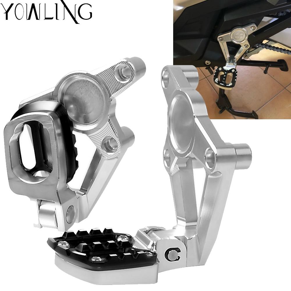 For HONDA X ADV 2017 2018 XADV X-ADV Folding Rear Foot Pegs Footrest Passenger Rear foot Set Motorcycle accessories цены онлайн