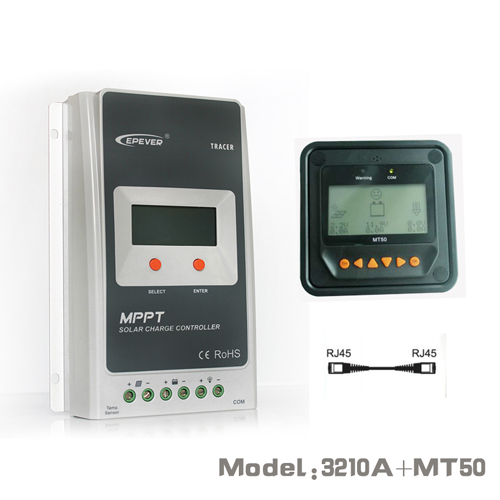 Tracer 3210AN Epsloar EPEVER 30A MPPT Solar Charge Controller with MT50 Meter цены