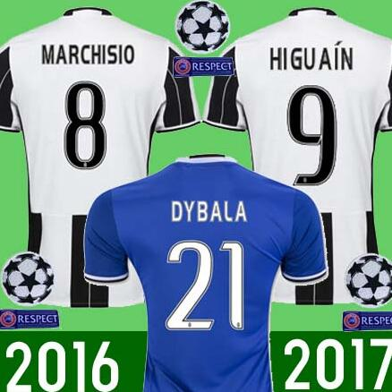 2 2016 hot sales 2017 football jerseys quality adult juventuses soccer jersey 16 17 home away .