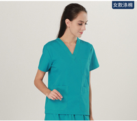 New Men Women Medical Scrub Sets Nurse Hospital Uniforms Dental Clinic Beauty Salon Medical Workwear V