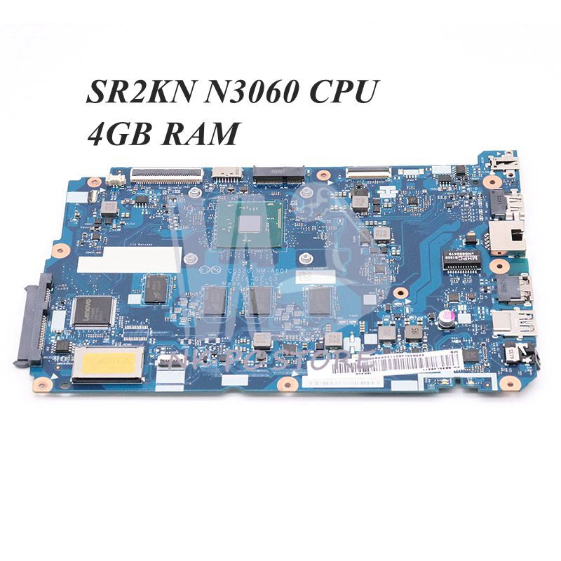 NOKOTION 5B20L46211 CG520 NM-A801 Mainboard For <font><b>Lenovo</b></font> <font><b>ideapad</b></font> <font><b>110</b></font>-15IBR laptop <font><b>motherboard</b></font> SR2KN N3060 CPU 4GB RAM image